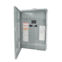 Homeline - Quik-Open | Homeline 100 Amp 20 Circuit 20 Space Indoor Main Breaker Box Panel Load Center