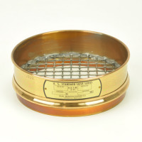 DM CO Sieves 13.2mm, Dual Manufacturing Company Sieve, 200mm Diameter, 13.2mm Openings, Brass