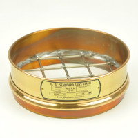 "Dual Mfg Co. Sieve, 8"" dia. - 37.5mm/1.5""/1-1/2""Mesh Brass Sieves"
