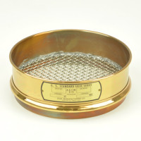 "Dual Mfg Co. Sieve, 8"" dia. - 6.7mm/0.265""/0.265""Mesh Brass"