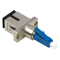 Fiber Adapter LC/UPC Male to SC/UPC Female Hybrid, SM 9/125um