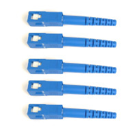 FiberTool - SC SM 3mm | SC Singlemode 3mm Fiber Optic Connectors (5 Pack)