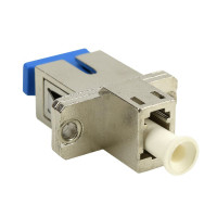 Fiber Adapter LC/UPC Female to SC/UPC Female Hybrid, SM 9/125um