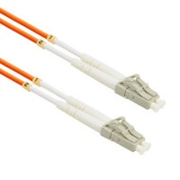 FiberTool Duplex MM LC to LC Patch Cable 62.5/125 Fiber Optic Jumper, 3 Meter Patch Cable Multimode