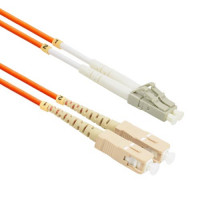 FiberTool Duplex MM LC to SC Patch Cable 62.5/125 Fiber Optic Jumper, 2 Meter Patch Cable Multimode