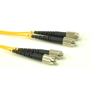 FiberTool Duplex SM FC to FC Patch Cable Fiber Optic Jumper, 1 Meter Singlemode 9/125 OS2