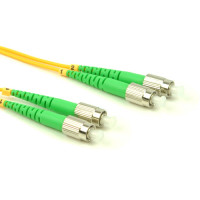 FiberTool Duplex SM FCAPC to FCAPC Patch Cable Fiber Optic Jumper, 1 Meter Singlemode 9/125 OS2