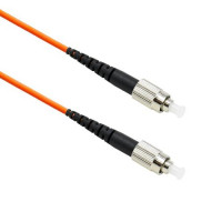 FiberTool Simplex MM FC to FC Patch Cable 50/125 Fiber Optic Jumper, 1 Meter Multimode 50/125um OM2