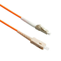 FiberTool Simplex MM LC to SC Patch Cable 50/125 Fiber Optic Jumper, 3 Meter Multimode 50/125um OM2