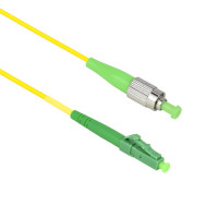 FiberTool - SX-SM-FCAPC-LCAPC-1M | FiberTool Simplex SM FCAPC to LCAPC Patch Cable Fiber Optic Jumper, 1 Meter