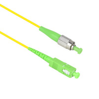 FiberTool Simplex SM FCAPC to SCAPC Patch Cable Fiber Optic Jumper, 1 Meter Singlemode 9/125 OS1