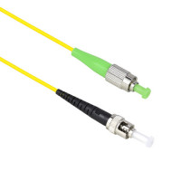 FiberTool Simplex SM FCAPC to ST Patch Cable Fiber Optic Jumper, 1 Meter Singlemode 9/125 OS1