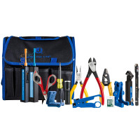 Jonard Tools - TK-160 | Jonard Tools TK-160 Fiber Prep Kit W/Connector Cleaners, Visual Fault Locator