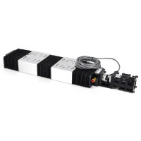 Lintech Screw Drive Motorized Linear Stage. #203818, w/Thomson Micron Motor, NT23-100 Motorized Positioning