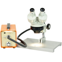 Meiji EMF Microscope W/ 15X Eyepieces, Ring Light-Guide & Light Source Microscopes