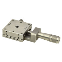 OptoSigma Stainless Steel Extended Contact X Stage 40x40mm Center Drive Metric Threads