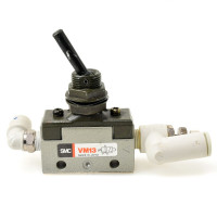 SMC VM13  2 Port Valves Mechanical with Toggle Switch Tubing, Valves & Fittings