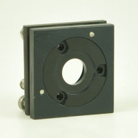 Lens Mount Positioner 2 x 2 inch mount, 1 inch Optic Dia. 0.50 inch Dia. Clear Aperture with XY Tilt Axis