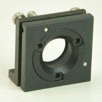 Lens Mount Positioner 2 x 2 inch mount, 1 inch Optic Dia. 0.85 inch Dia. Clear Aperture with XY Tilt Axis