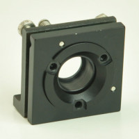 Lens Mount Positioner 2 x 2 inch mount, 1 inch Optic Dia. 0.64 inch Dia. Clear Aperture with XY Tilt Axis
