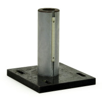 Optical Support Rod 1.5 In Dia. w/ Gear Rack on 5 x 4 inch Slotted Base Plate Post & Holders