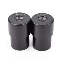 WF 10x Microscope Eye Piece Pair, 25mm Insert Eyepieces